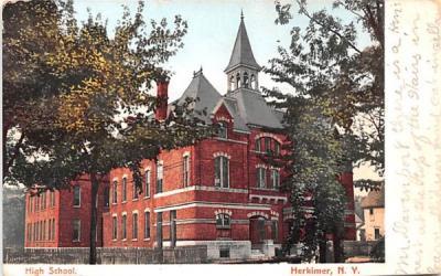 High School Herkimer, New York Postcard