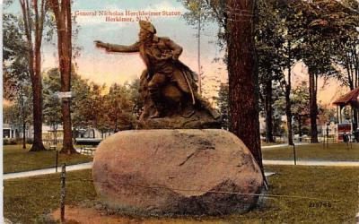 General Nicholas Herchheimer Statue Herkimer, New York Postcard