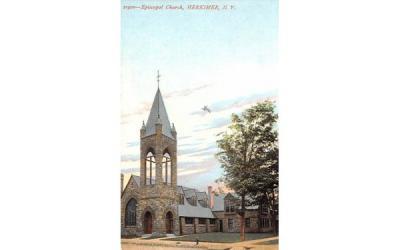 Episcopal Church Herkimer, New York Postcard