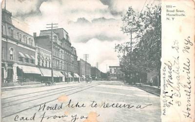 Broad Street Hornellsville, New York Postcard