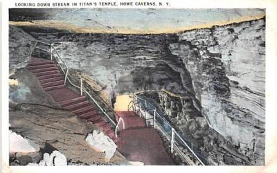 Titan's Temple Howe Caverns, New York Postcard