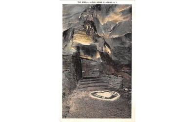 Bridal Altar Howe Caverns, New York Postcard