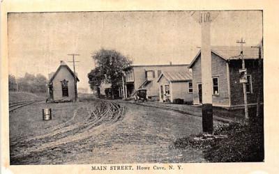 Main Street Howe Caverns, New York Postcard