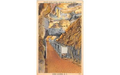 Bridge Over Chasm Howe Caverns, New York Postcard