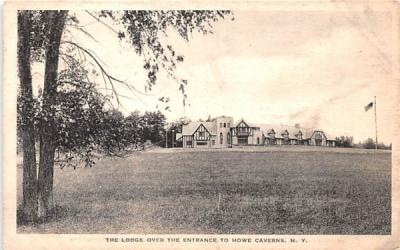 Lodge over the Entrance Howe Caverns, New York Postcard