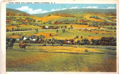 From the Lodge Howe Caverns, New York Postcard