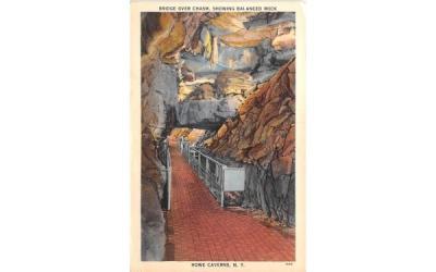 Bridge Over Chasm Howe Caverns, New York Postcard