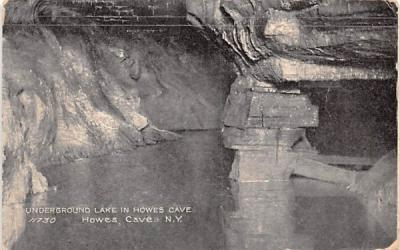 Underground Lake Howe Caverns, New York Postcard