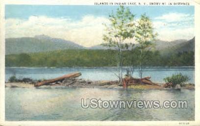 Islands - Indian Lake, New York NY Postcard