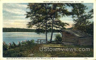 Mason Lake - Indian Lake, New York NY Postcard