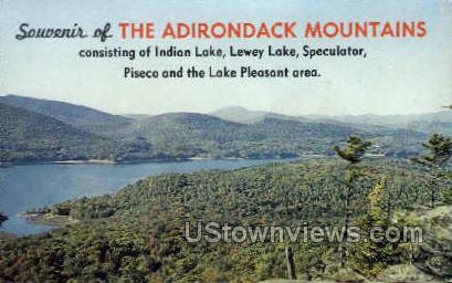 Adirondack Mtn.s - Indian Lake, New York NY Postcard