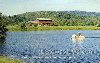 Wakely Lodge - Indian Lake, New York NY Postcard