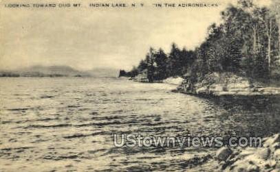 Dug Mtn. - Indian Lake, New York NY Postcard