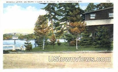 Wanona Lodge - Inlet, New York NY Postcard