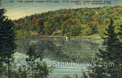 Fifth Lake - Inlet, New York NY Postcard