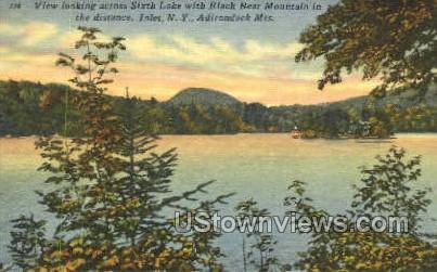 Sixth Lake Landing - Inlet, New York NY Postcard