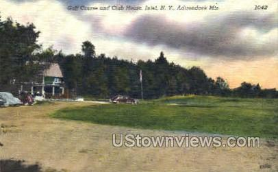 Golf Course - Inlet, New York NY Postcard