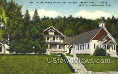 St. Anthony's Church - Inlet, New York NY Postcard