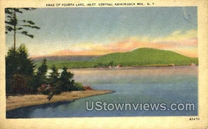 Fourth Lake - Inlet, New York NY Postcard