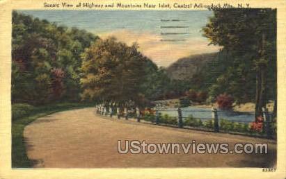 Highway - Inlet, New York NY Postcard