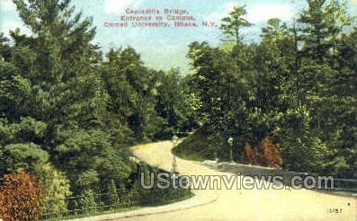 Cascadilla Bridge, Cornell U - Ithaca, New York NY Postcard