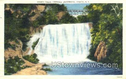 Ithaca Falls - New York NY Postcard