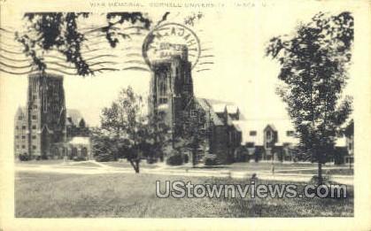 War Memorial - Ithaca, New York NY Postcard
