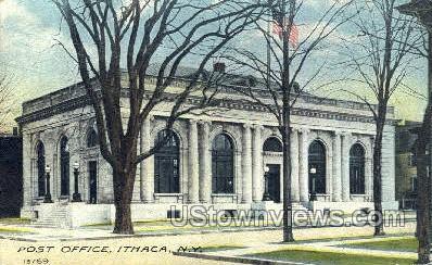 Post Office - Ithaca, New York NY Postcard