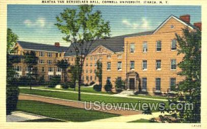 Martha Van Rensselaer Hall - Ithaca, New York NY Postcard
