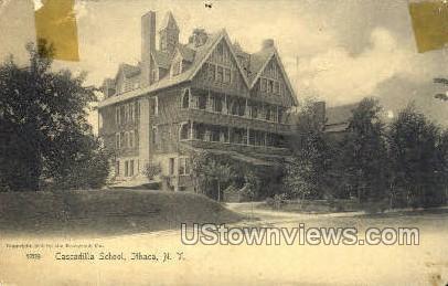 Cascadilla School - Ithaca, New York NY Postcard