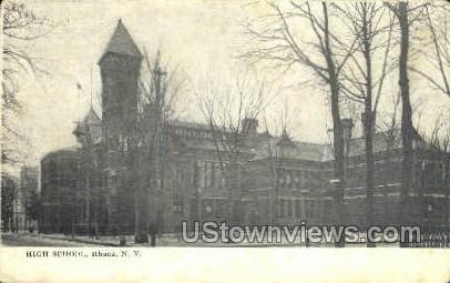 High School - Ithaca, New York NY Postcard