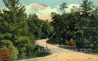 Cascadilla Bridge - Ithaca, New York NY Postcard