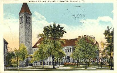 Cornell Library - Ithaca, New York NY Postcard