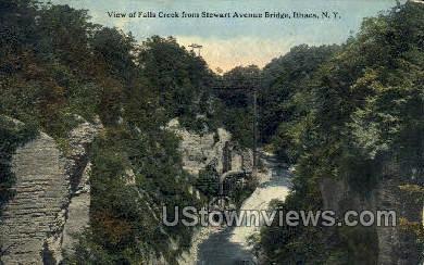 Fall Creek - Ithaca, New York NY Postcard