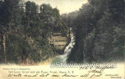 Fall Creek Gorge - Ithaca, New York NY Postcard