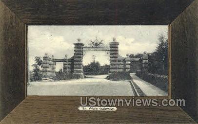 White Gateway - Ithaca, New York NY Postcard
