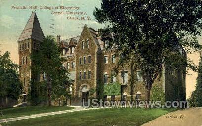 Franklin Hall, Cornell U - Ithaca, New York NY Postcard
