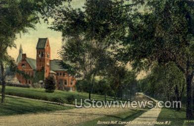 Barnes Hall, Cornell U - Ithaca, New York NY Postcard