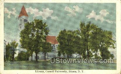Cornell University, Library - Ithaca, New York NY Postcard