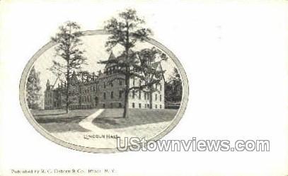 Lincoln Hall - Ithaca, New York NY Postcard