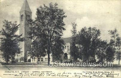 Library - Ithaca, New York NY Postcard