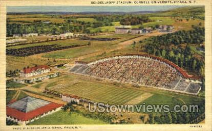 Schoellkopf Stadium - Ithaca, New York NY Postcard