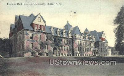 Cornell U, Lincoln Hall - Ithaca, New York NY Postcard
