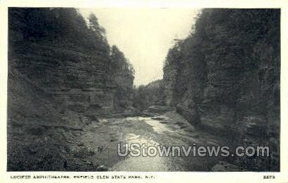 Lucifer Amphitheatre - Ithaca, New York NY Postcard