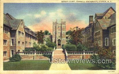 Baker Court - Ithaca, New York NY Postcard