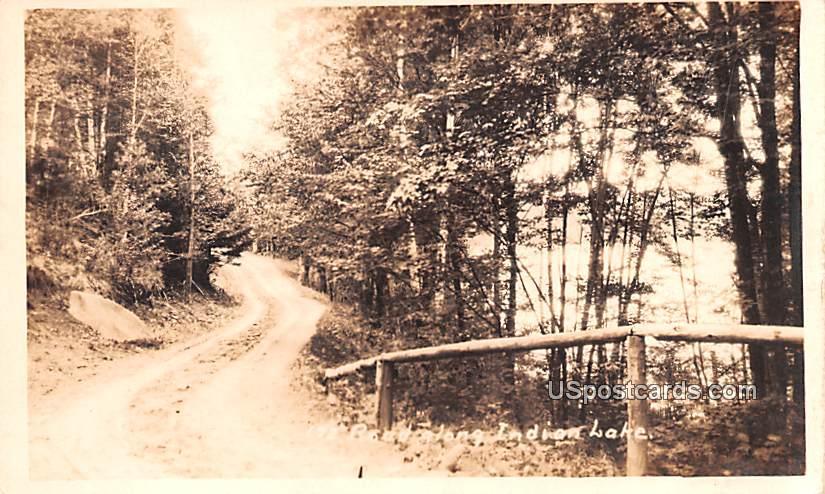 Road - Indian Lake, New York NY Postcard