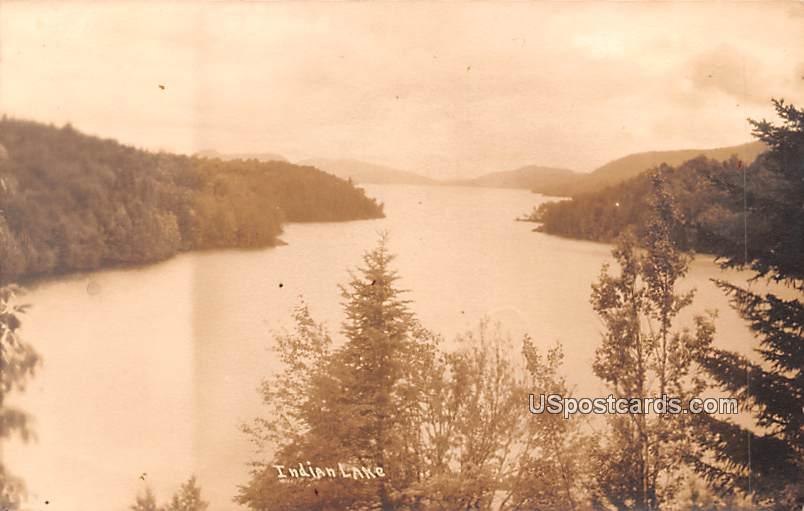 Lake View - Indian Lake, New York NY Postcard