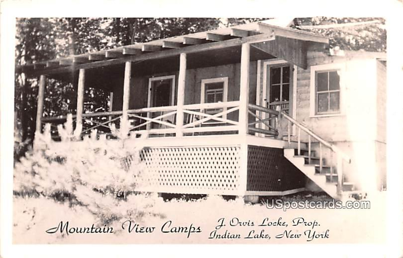 Mountain View Camps - Indian Lake, New York NY Postcard