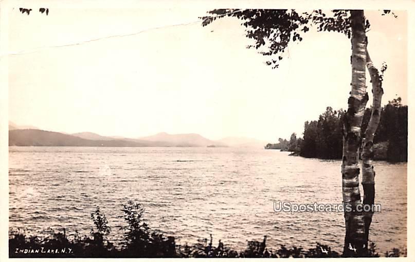 Water View - Indian Lake, New York NY Postcard