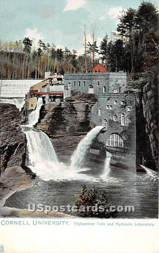 Cornell University, Triphammer Falls & Hydraulic Laboratory - Ithaca, New York NY Postcard